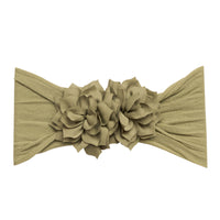 Duo Flower Nylon Headwrap Sage 41