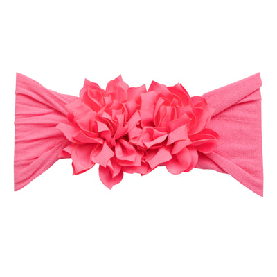 Duo Flower Nylon Headwrap Bubblegum 33