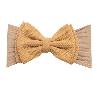 ALEXA DOUBLE BOW on NYLON  Headwraps Hazelnut 12