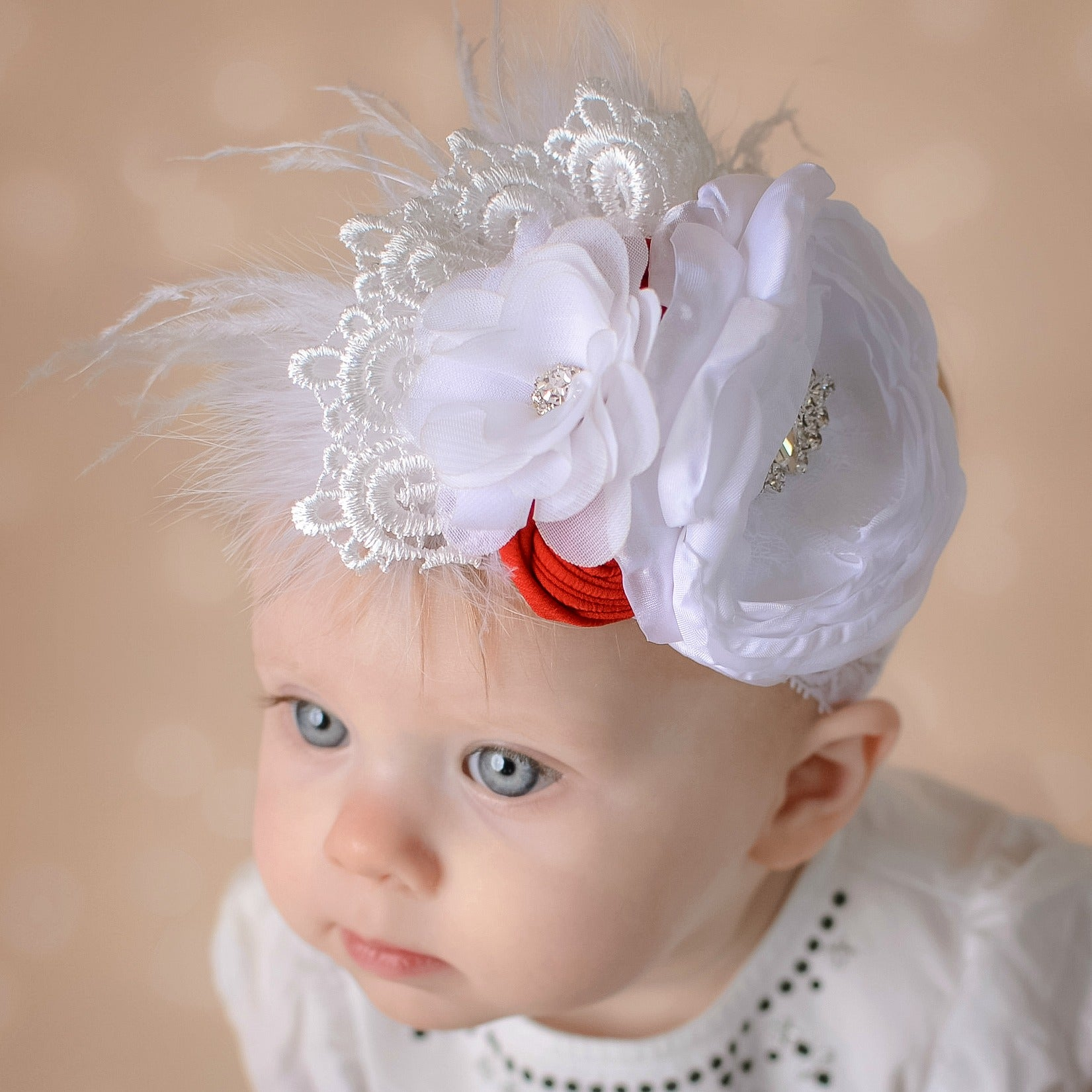 Peppermint Kisses Headband Think Pink Bows