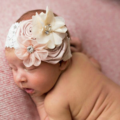 Yours Truly Flower Lace Headband - 6 Colors
