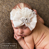 Shredded Wheat Headband - 2 Colors Available - Think Pink Bows - 6