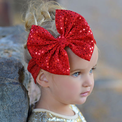 Christmas Statement Bow  Headband