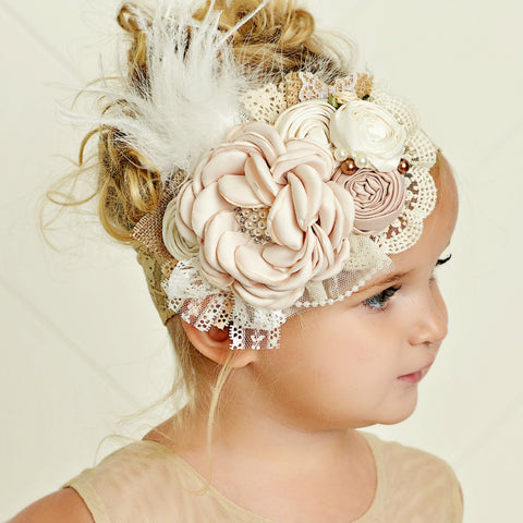 Addison  Flower Lace Headband
