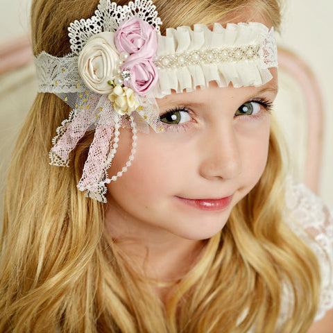 Lola Couture Flower Lace Headband
