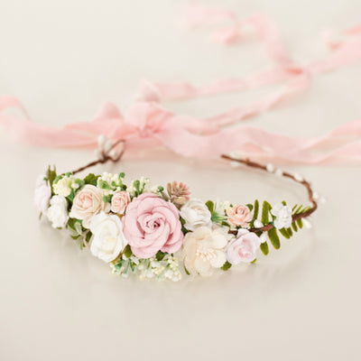 Luciana Flower Girl Crown