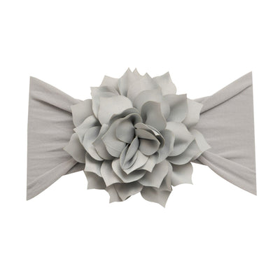 Dahlia Nylon FLOWER Headwraps PEARL GREY 10
