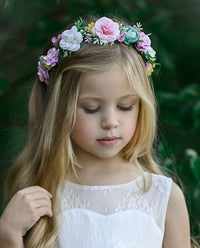 Leila Flower Girl Crown