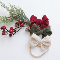 Merry Season SET of 3 Nylon Headbands