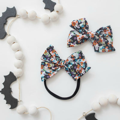 Halloween Hand Tied Headbands - Ghosts