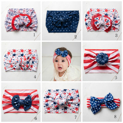 Patriotic Knot Nylon Headwraps