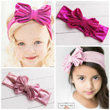 SOLID Metallic Big Bow Headwraps - Think Pink Bows - 3