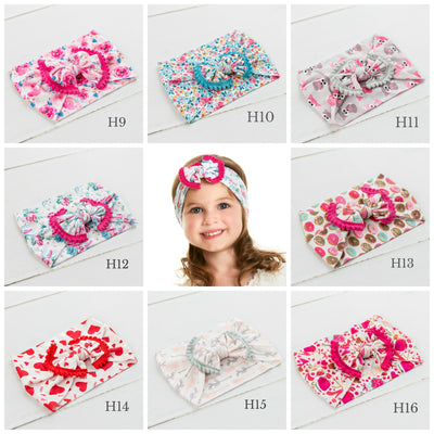 POM POM Nylon Headwraps NEW PRINTS