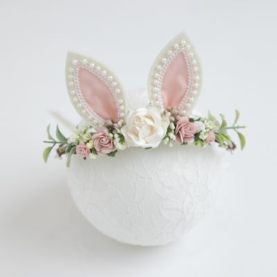 Bunny Ear Flower Girl Crown