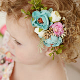 Style 1 Pocket Full of Posies Nylon Headband
