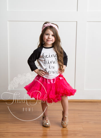 Petti Tutu Skirt - Hot Pink - Think Pink Bows - 1