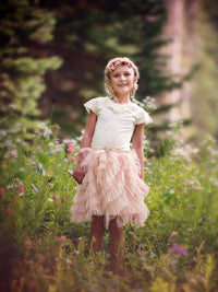 Swan Princess Champagne Tulle Skirt