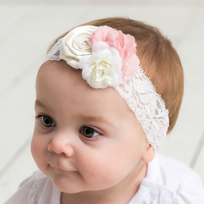 Serena Couture Flower Lace Headband