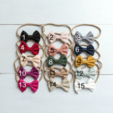 Suede Bow Headbands