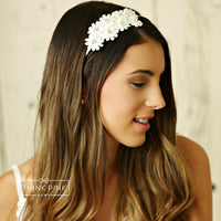 Miss Elegance Bridal & Flower Girl Wedding Appliqué Girls Headband  2 Colors