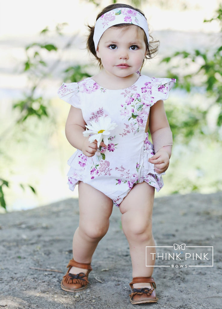 56b089f13519 Tea Party Baby Girl Romper – Think Pink Bows