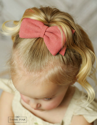 The School Girl Felt Bow Clippie - 9 colors available