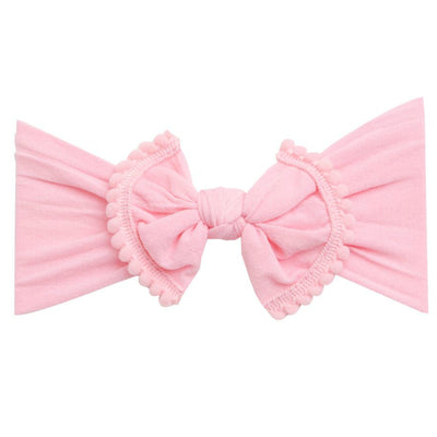Pom Pom Nylon Headwrap Bubblegum 33
