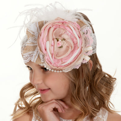 Tea Time Couture Flower Lace Headband