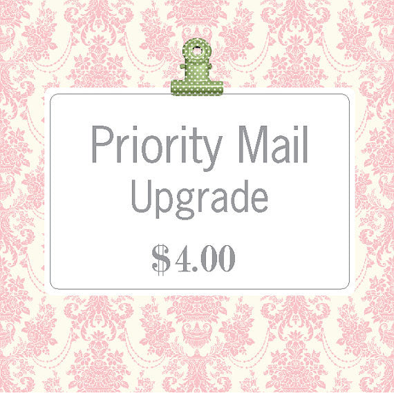 Priority Mail Upgrade - Think Pink Bows