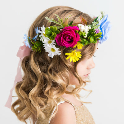 Delphine Flower Girl Crown