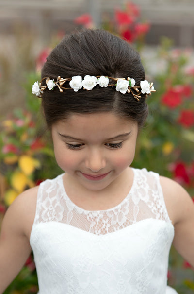 Aurie Flower Girl Crown