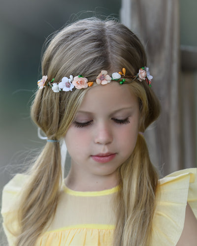 Paisley Flower Girl Crown