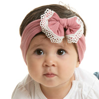 White Lace Trim Nylon Headwrap