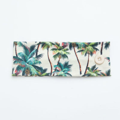 Mask Holder Headband Palm Trees Print 6
