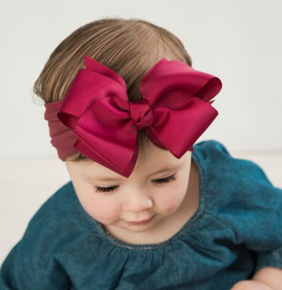 Layered Grosgrain BOW Nylon Headwraps MULBERRY 35
