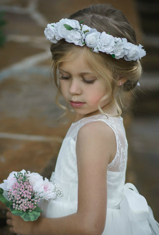 Bianca Flower Girl Crown