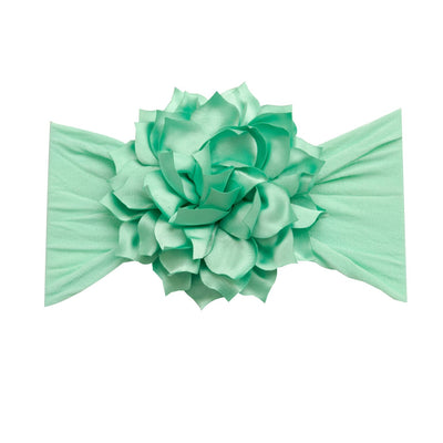Dahlia Nylon FLOWER Headwraps MINT 5
