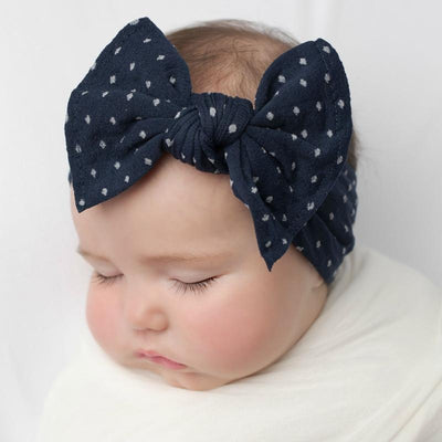 ELLE Polka Dot Headwrap Navy 25