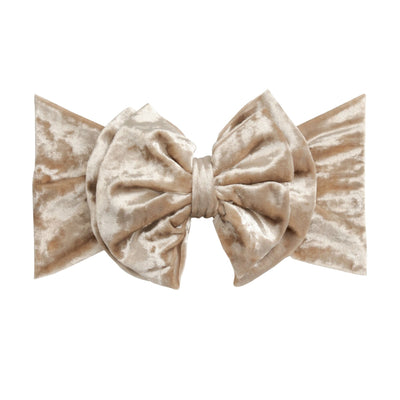 Double Bow Velvet Headwraps Champagne 61
