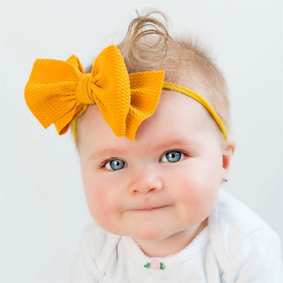 DOUBLE Lulu Bow Nylon Headbands 20 Colors