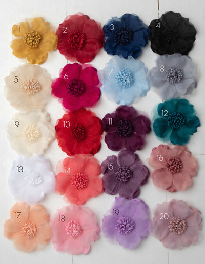 Belle Flower Clippie  20 Colors
