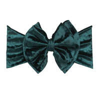 Double Bow Velvet Headwraps Hunter Green 32
