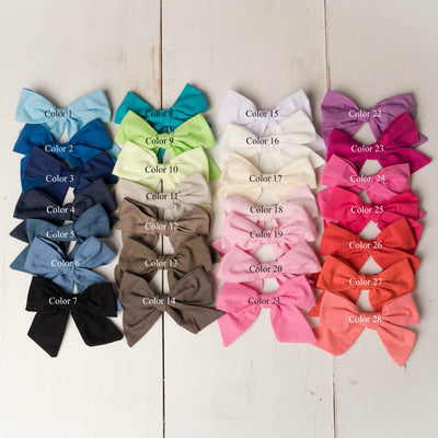 Ally BIG Hand Tied BOWS Nylon Headbands 28 Colors