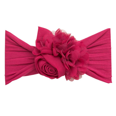 Couture Nylon Headwraps RASPBERRY 11
