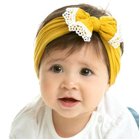 White Lace Trim Nylon Headwrap 21 Colors