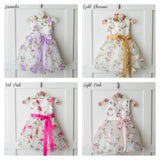 Spring Garden Flower Girl Dress 4 Colors