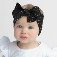 ELLE Polka Dot Headwrap Black 26
