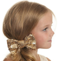 Sequin Bow on Hair Clip- 19 Colors!