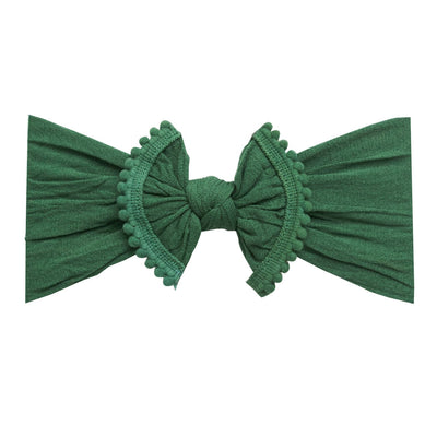 Pom Pom Nylon Headwrap Hunter Green 28