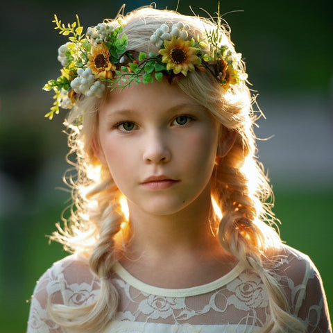 Blossom Flower Girl Crown